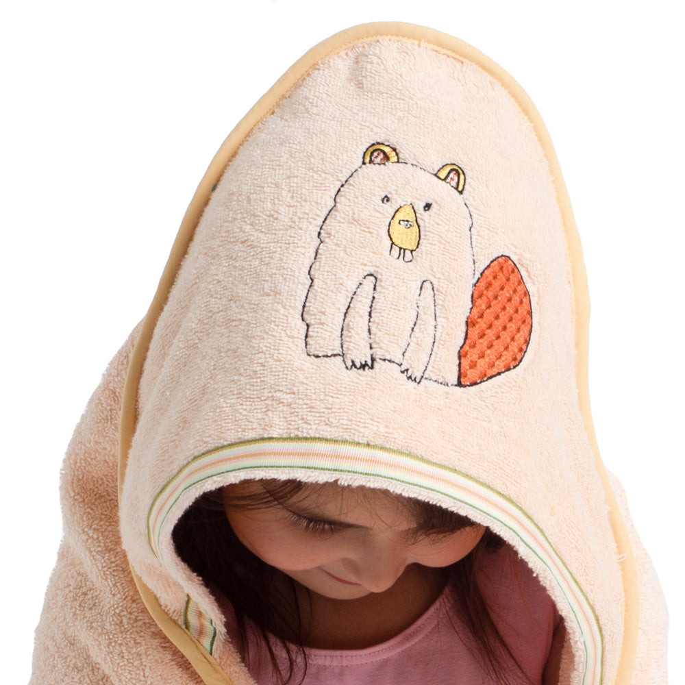 Baby & Toddler Hooded Towel: Woodland Collection (Busy Beaver) - Breganwood Organics - 1