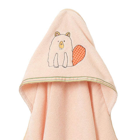 Baby & Toddler Hooded Towel: Woodland Collection (Busy Beaver) - Breganwood Organics - 3