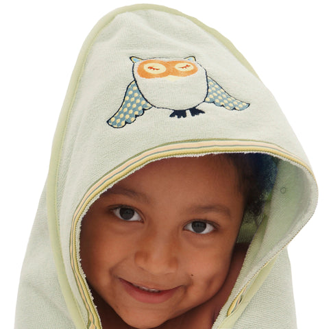 Baby & Toddler Hooded Towel: Woodland Collection -Sleepy Owl
