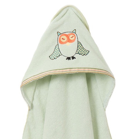 Baby & Toddler Hooded Towel: Woodland Collection (Sleepy Owl) - Breganwood Organics - 9