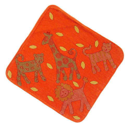 Baby & Toddler Hooded Towel: Jungle Collection (Orange) - Breganwood Organics - 4