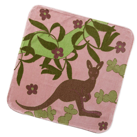 Baby & Toddler Hooded Towel: Outback Collection (Pale Rose Kangaroo) - Breganwood Organics - 4