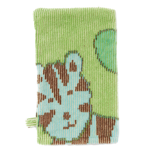 Baby Washcloth, The Jungle Collection Green - Breganwood Organics - 3