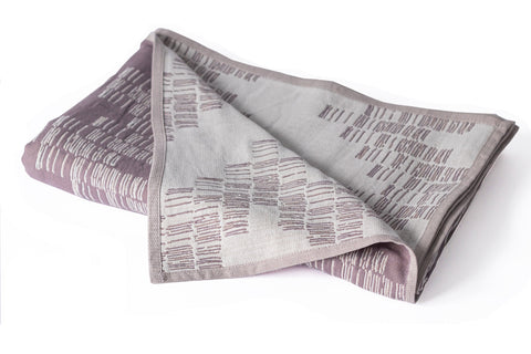 Cotton Throw/Blankets made with organically grown cotton Shoreline Taupe 1