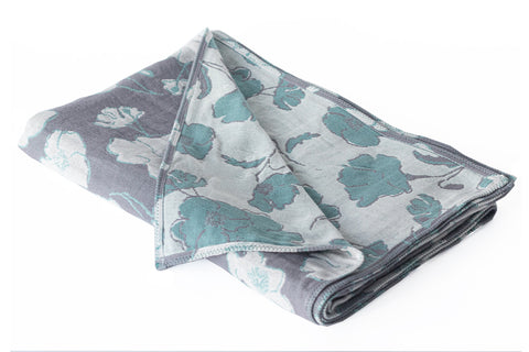 Cotton Throw/Blankets made with organically grown cotton Graceland Sage & Grey 1