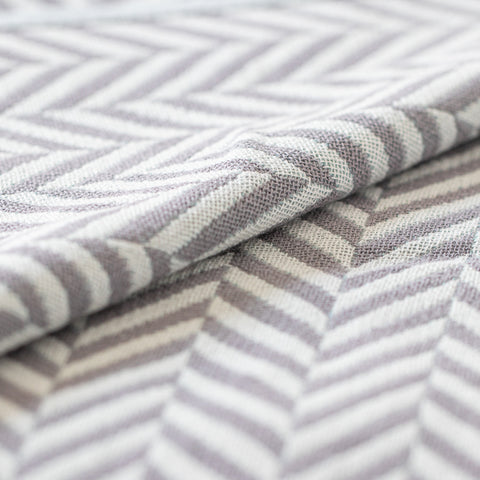 Cotton Throw/Blankets made with organically grown cotton Herringbone Grey 5