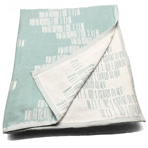 Cotton Throw/Blankets made with organically grown cotton Shoreline Sage 5