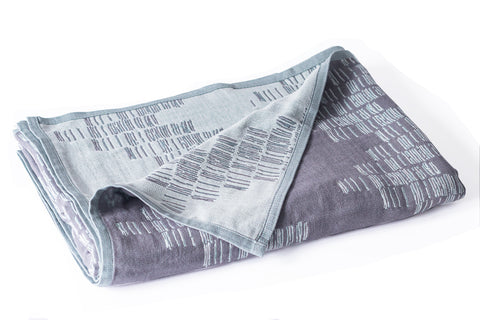 Cotton Throw/Blankets made with organically grown cotton Shoreline Grey 1