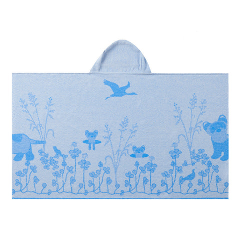 Kids Hooded Towel, The Prairie Collection Blue Ferret - Breganwood Organics - 2