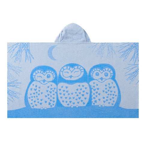 Kids Hooded Towel, The Prairie Collection Blue Owl - Breganwood Organics - 2