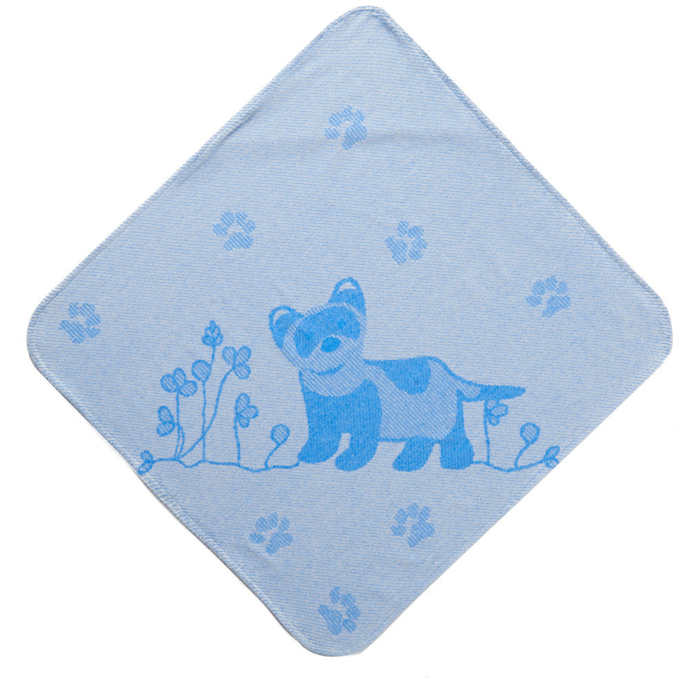 Baby & Toddler Hooded Towel: Prairie Collection (Blue Ferret) - Breganwood Organics - 2