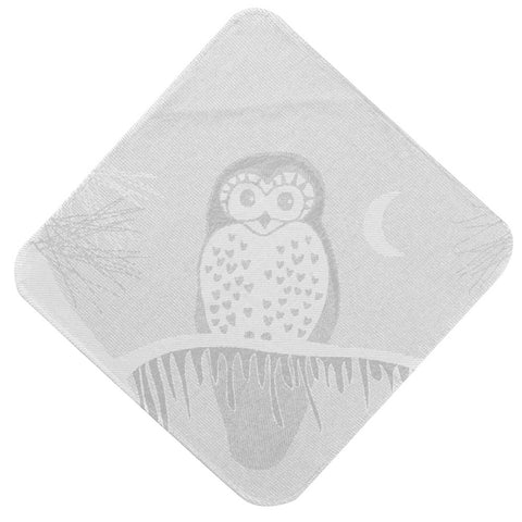 Baby & Toddler Hooded Towel: Prairie Collection (Soft Grey Owl) - Breganwood Organics - 2