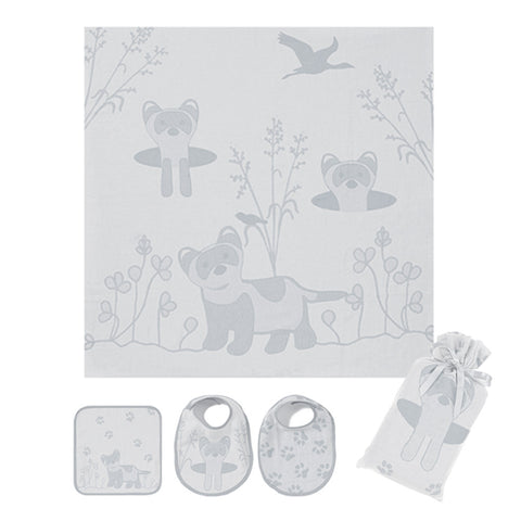 Muslin Swaddle Set: Prairie Collection, Grey Ferret