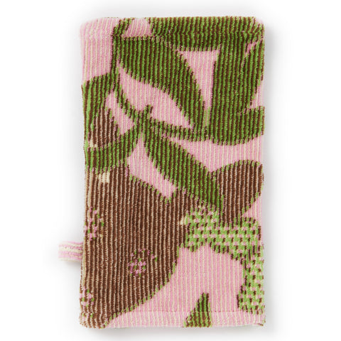 Wash Mitt: Outback Collection Kangaroos -Pale Rose