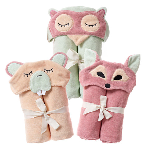 Kids Hooded Towel, The Woodland Collection - Breganwood Organics -1