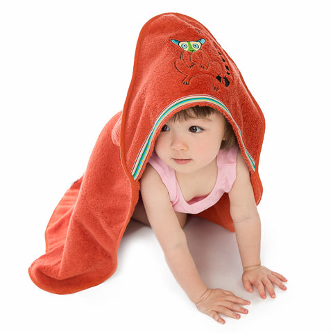 Baby & Toddler Hooded Towel: Rainforest Collection (Happy Lemur) - Breganwood Organics - 3