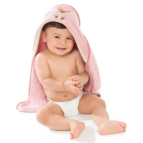 Baby & Toddler Hooded Towel: Woodland Collection Playful Fox  - Breganwood Organics - 4