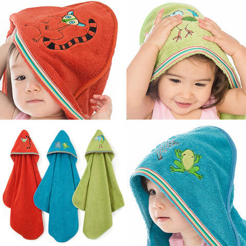 Baby & Toddler Hooded Towel: Rainforest Collection - Breganwood Organics - 1