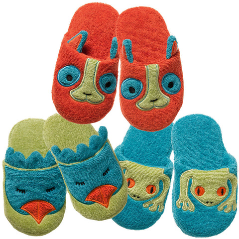 Non-Slip Slippers: Rainforest Collection -Funny Bird