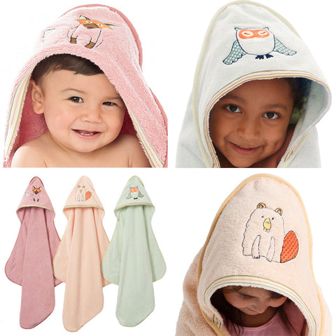 Baby & Toddler Hooded Towel: Woodland Collection  - Breganwood Organics - 1
