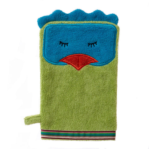 Wash Mitt: Rainforest Collection -Funny Bird
