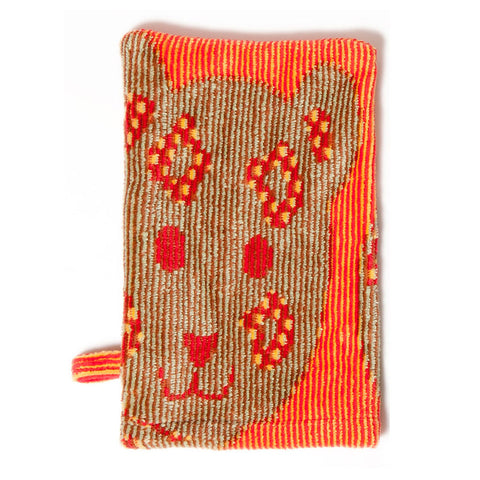 Baby Washcloth, The Jungle Collection Orange - Breganwood Organics - 1