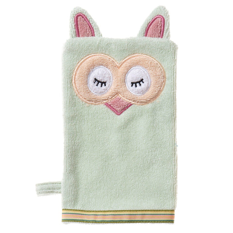 Baby Washcloth, The Woodland Collection Sleepy Owl - Breganwood Organics - 3