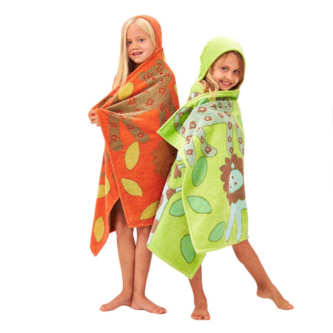 Kids Hooded Towel, - Jungle Collection Classic - Breganwood Organics