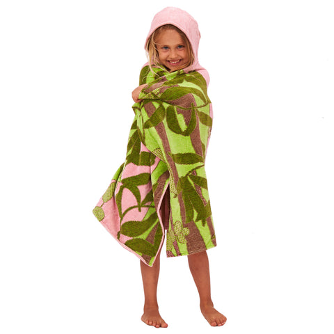 Kids Hooded Towel, The Outback Collection Koala, Pale Rose - Breganwood Organics - 1