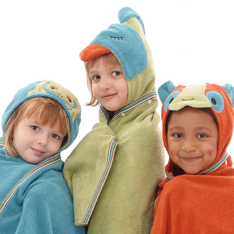 Kids Hooded Towel, The Rainforest Collection - Breganwood Organics - 1