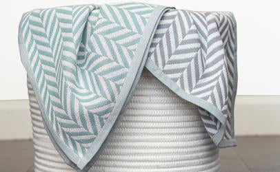 Sage & Grey Organic Cotton Throw Blankets