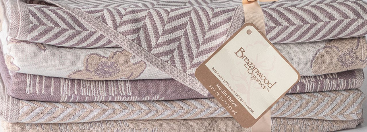 Breganwood Organics Cotton Muslin Throw Blankets for the whole family