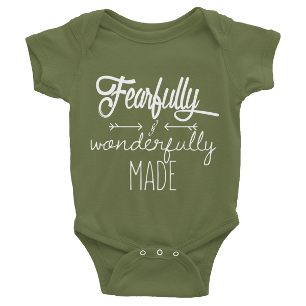 Fearfully & Wonderfully Made - Infant short sleeve one-piece - HoldenMack  - 2