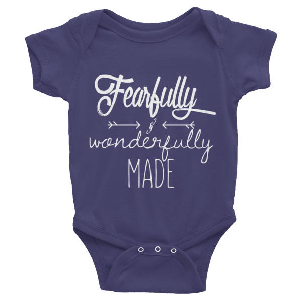 Fearfully & Wonderfully Made - Infant short sleeve one-piece - HoldenMack  - 3