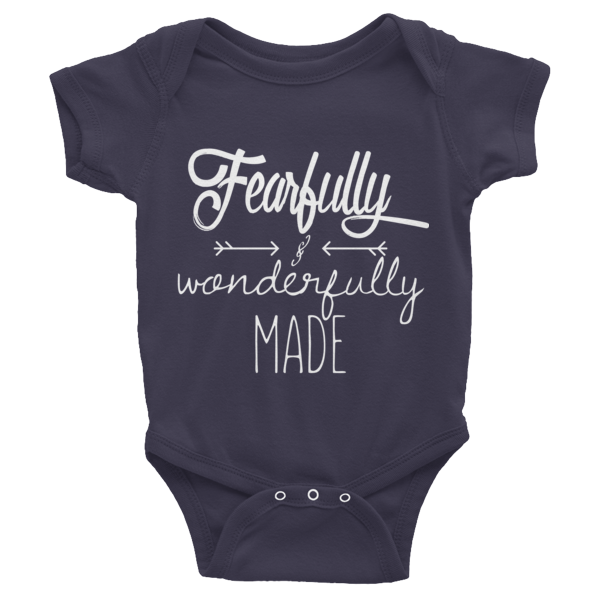 Fearfully & Wonderfully Made - Infant short sleeve one-piece - HoldenMack  - 1