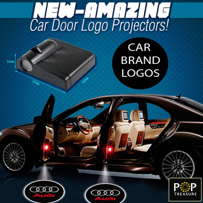 2 \u0027Car Brand\u0027 Car Door LED Projector Logos  sc 1 st  PopTreasure.com & 2 NFL Pittsburgh Steelers Wireless LED Car Door Projectors - POP ...