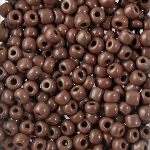 Opaque Seed Beads Size 6/0 -Brown, 1LB (500 Grams)