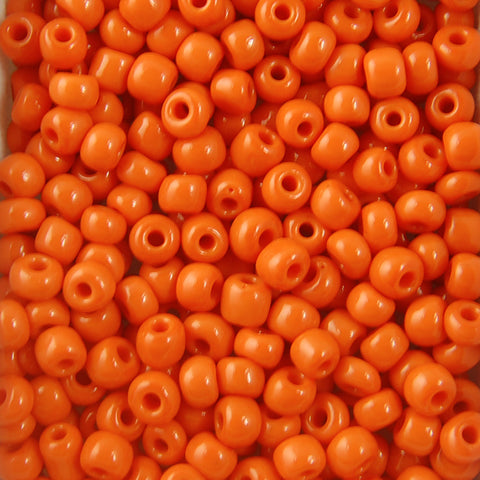 Opaque Seed Beads Size 6/0 -Orange, 1LB (500 Grams)