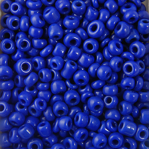 Opaque Seed Beads Size 6/0 -Royal Blue, 1LB (500 Grams)