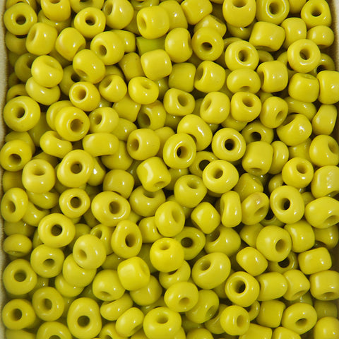 Round Opaque Seed Beads Size 6/0 -Yellow, 1LB (500 Grams)