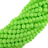 "10mm Neon Coated Glass Beads (Lime Green) (30"" Strand)"