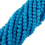 "10mm Neon Coated Glass Beads (Lt. Blue) (30"" Strand)"