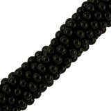"12mm Smooth Round Black Onyx (16"" Strand)"