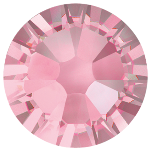 "Light Rose-Swarovski 2038 ""HotFix"" XILION Flatback Rhinestones (Choose Size)"