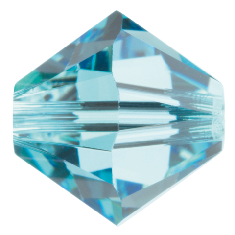 Swarovski #5328 6mm Bicone Bead-Aquamarine (72 Pieces)