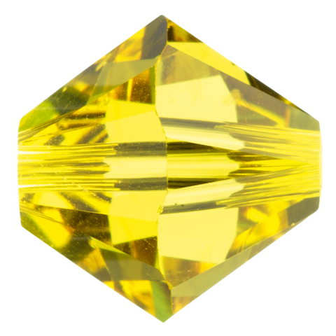 Swarovski #5328 Bicone Bead-Choose Size (Citrine)