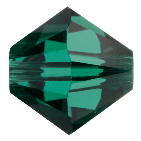 Swarovski #5328 4mm Bicone Bead-Emerald (144 Pieces)