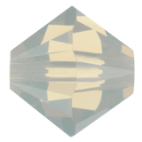 Swarovski #5328 6mm Bicone Bead-Light Grey Opal (72 Pieces)