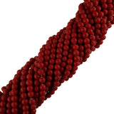 "6mm Neon Coated Glass Beads (Red) (30"" Strand)"