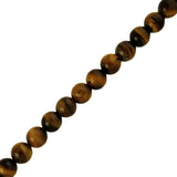 "6mm Smooth round Tiger Eye (16"" Strand)"